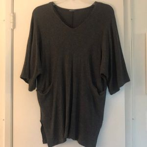 Gap gray sweater dress with side pockets